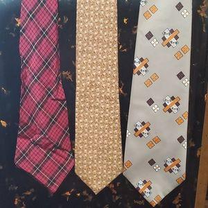 3 Vintage Ties Sears, Paolo Rossi, Plaid